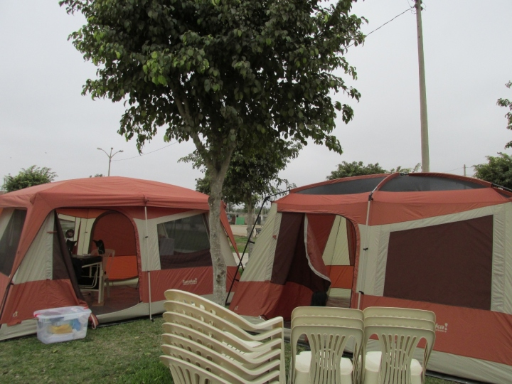 Tents can be set up quickly