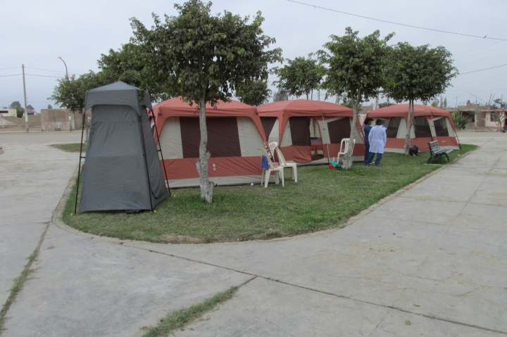 Tent campus for cervical cancer prevention