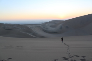 Sands dunes in Huacachina
