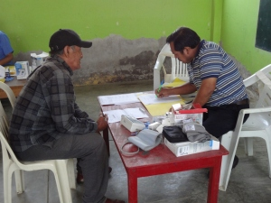 Promotras work in the clinic to train to provide home care