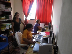 After the testing is done, promotoras enter the results in Excel