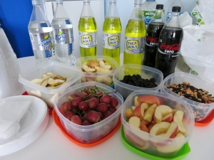 "We reinforce the ""healthy eating"" segment by serving fruits and nuts and zero-calorie beverages"